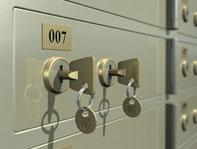 safe box with keys