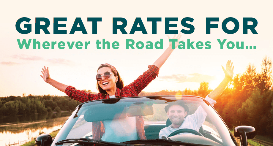 Great Rates for wherever the road takes you